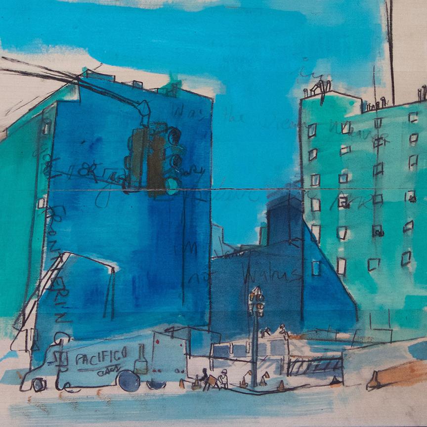 Biking Through Manhattan 12x12x1.5